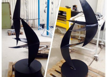 Sculpture finish in magic black