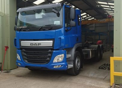 Powder coat chassis for brand new DAF built by South West commercials
