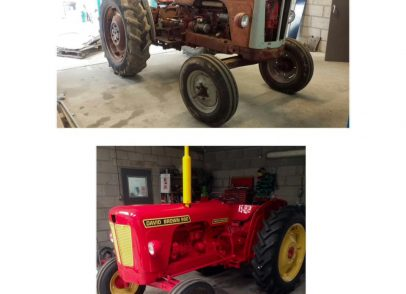 Tractor Complete strip down, blasted, 2 pack prime, 2 pack top coated and reassembled.