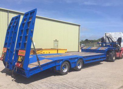 Frame UK King low loader trailer after