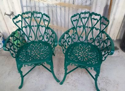 Garden furniture after