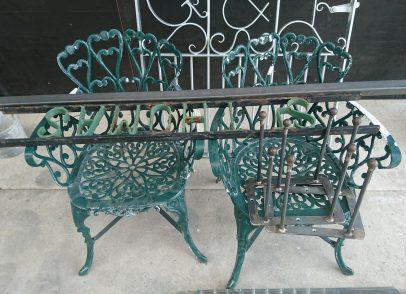 Garden furniture before
