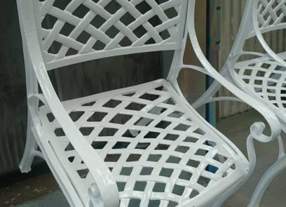 Rusty garden furniture