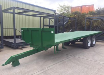 Bailey Flat Bed Trailer, Blast and 2pac paint and apply new decols